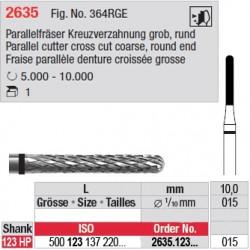 Fraise parallèle denture croisée grosse - 2635.123.015