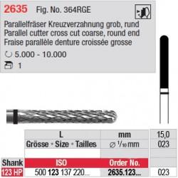 Fraise parallèle denture croisée grosse - 2635.123.023