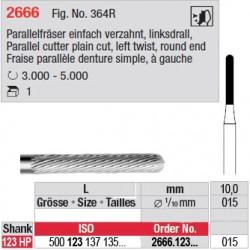 Fraise parallèle denture simple, à gauche - 2666.123.015