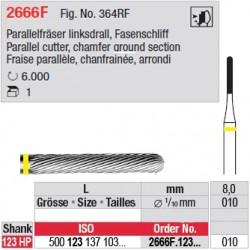 Fraise parallèle chanfrainée, bout arrondi - 2666F.123.010