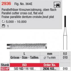 Fraise parallèle denture croisée, bout plat - 2936.103.010