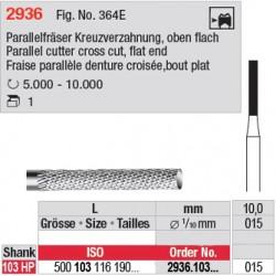 Fraise parallèle denture croisée, bout plat - 2936.103.015
