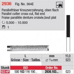 Fraise parallèle denture croisée, bout plat - 2936.103.023