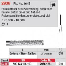 Fraise parallèle denture croisée, bout plat - 2936.123.010