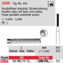 Fraise parallèle denture simple (extrémité active) - 3266.103.015
