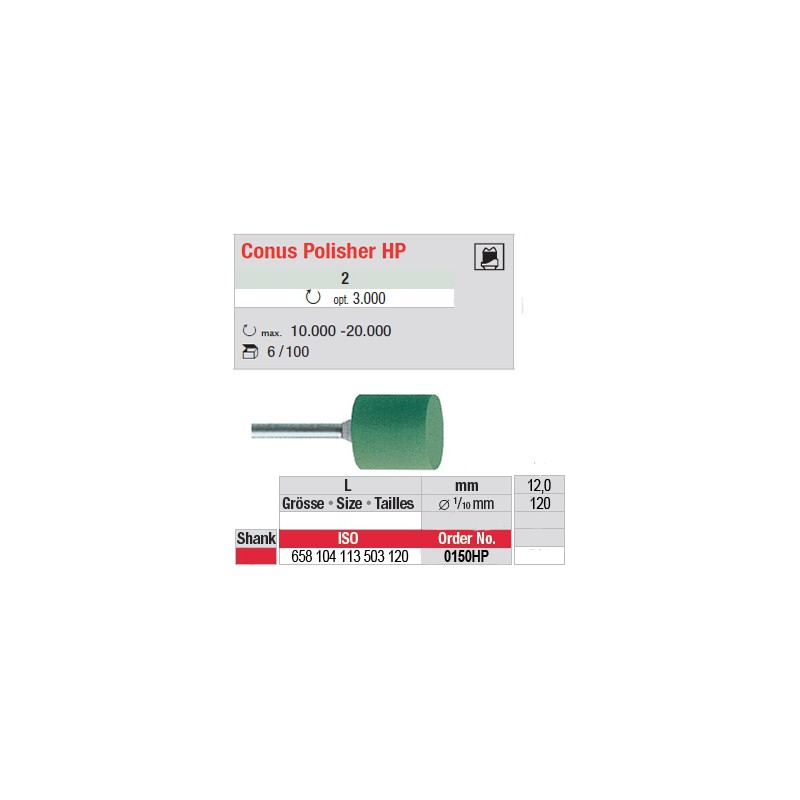 Conus Polisher HP - 0150HP