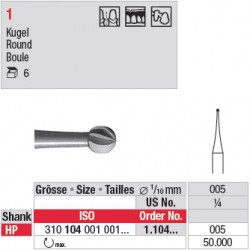 Fraise en acier ronde - 1.104.005