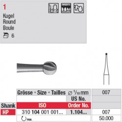 Fraise en acier ronde - 1.104.007
