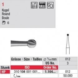 Fraise en acier ronde - 1.104.012