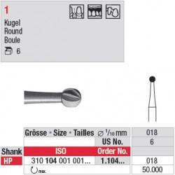 Fraise en acier ronde - 1.104.018