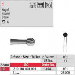 Fraise en acier ronde - 1.104.031