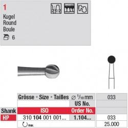 Fraise en acier ronde - 1.104.033