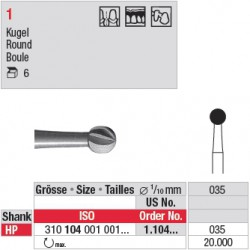 Fraise en acier ronde - 1.104.035
