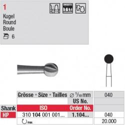 Fraise en acier ronde - 1.104.040