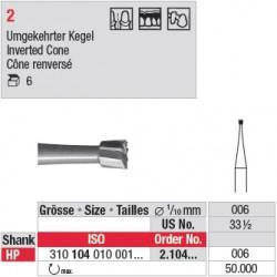 Fraise en acier cône renversé - 2.104.006