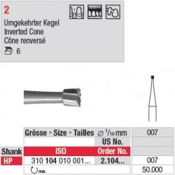 Fraise en acier cône renversé - 2.104.007