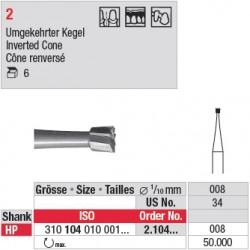 Fraise en acier cône renversé - 2.104.008