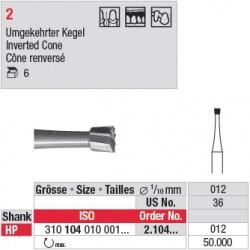 Fraise en acier cône renversé - 2.104.012