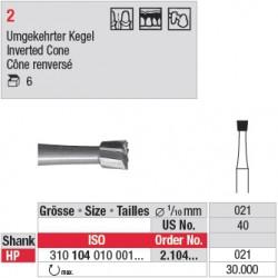 Fraise en acier cône renversé - 2.104.021