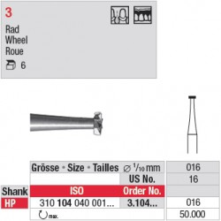 Fraise en acier roue - 3.104.016