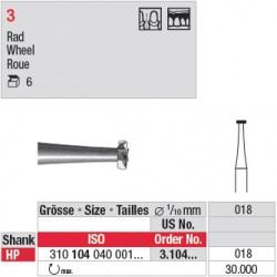 Fraise en acier roue - 3.104.018