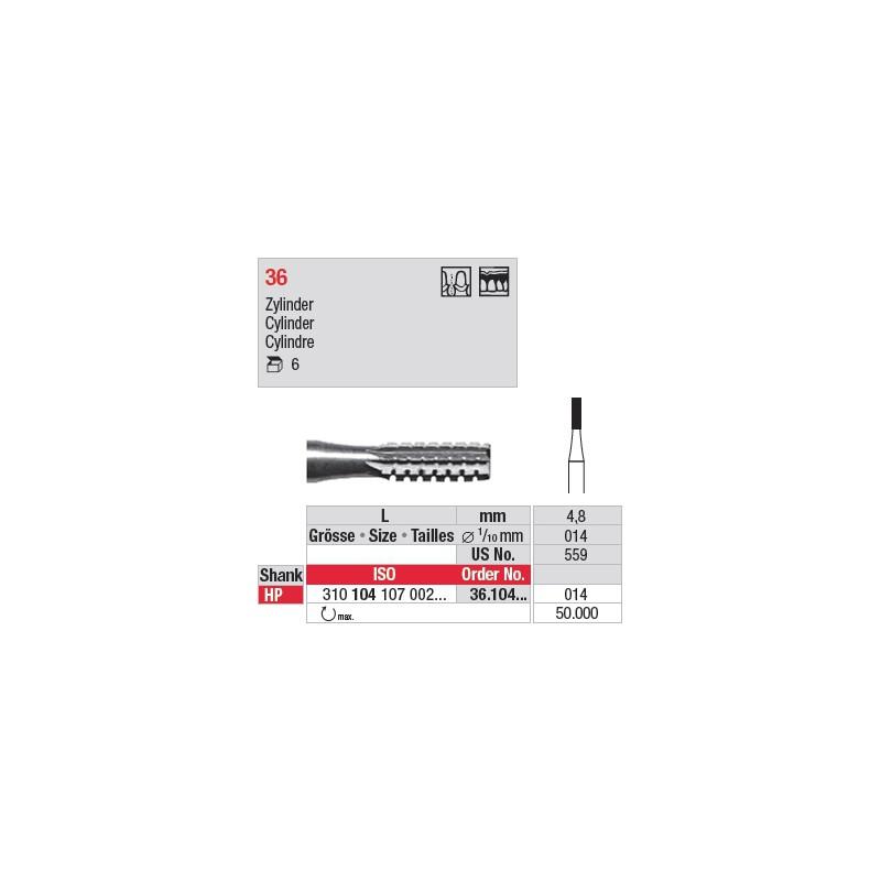 Fraise en acier cylindrique - 36.104.014