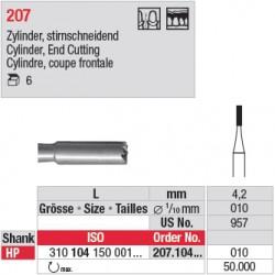 Fraise en acier cylindrique, coupe frontale - 207.104.010