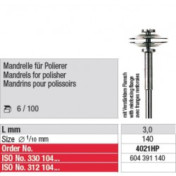 Mandrins pour polissoirs - 4021HP