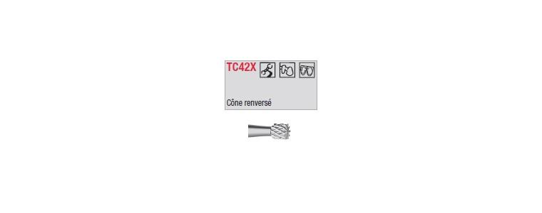 TC42X - conique renversée croisée large