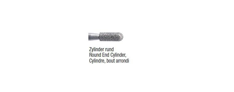 842R / 881 - cylindre bout arrondi