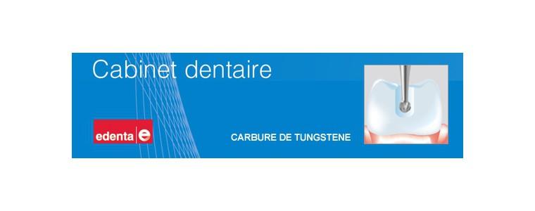 Fraises dentaires en carbure de tungstène.
