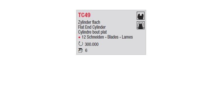 TC49- Cylindre bout plat