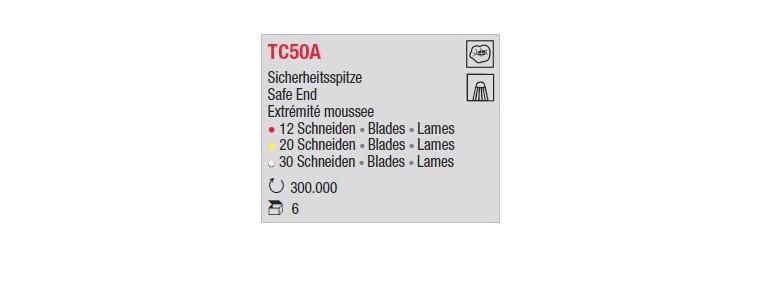 TC50A - Extrémité émoussée