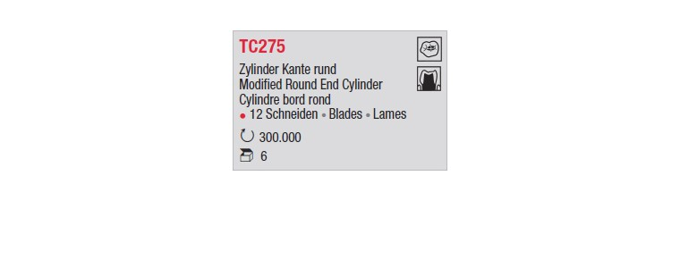 TC275 - Cylindre bord rond