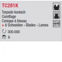 TC281K - Conique à biseau