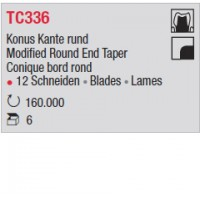 TC336 - Conique bord rond