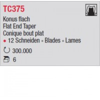 TC375 - Conique bout plat