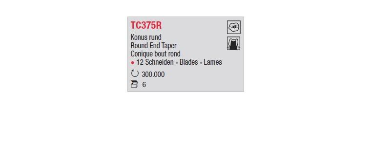 TC375R - Conique bout rond