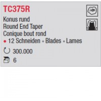 TC375R - Conique bout rond