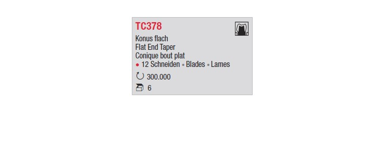 TC378 - Conique bout plat