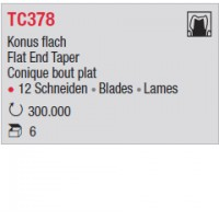 TC378 - Conique bout plat
