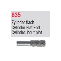 835 - Cylindre, bout plat
