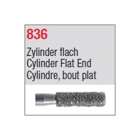 836 - Cylindre, bout plat
