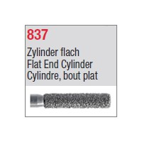 837 - Cylindre, bout plat