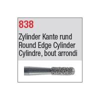 838 - Cylindre, bout arrondi
