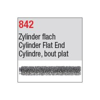 842 - Cylindre, bout plat