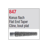 847 - Cône, bout plat