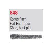 848 - Cône, bout plat