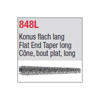 848L - Cône, bout plat, long