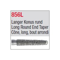 856L - Cône, long, bout arrondi